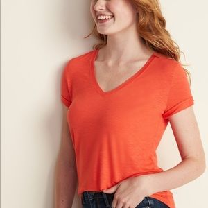 Urban outfitters orange red T-shirt